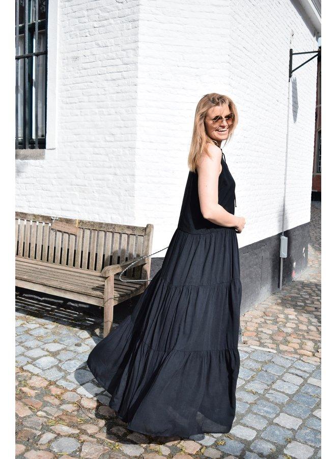 YASVELO MAXI DRESS - BLACK