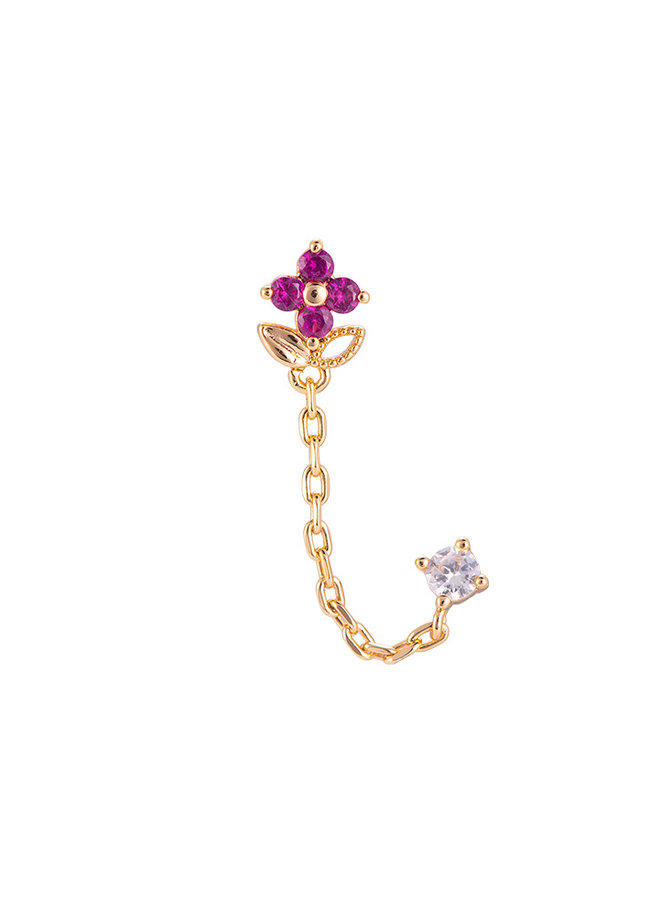 PINK FLOWER CHAIN GOLD