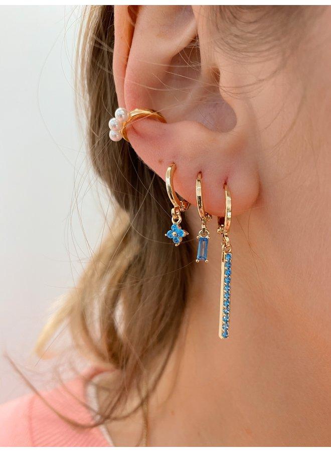 HERA PLATED EARRING - BLUE