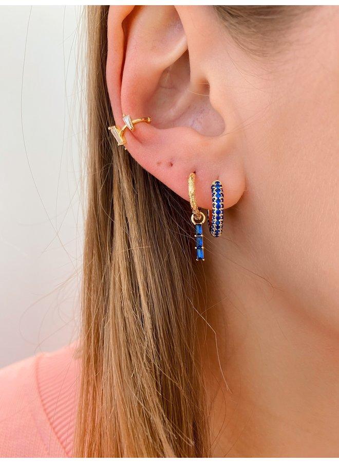 TRIPLE CUBE EARRING - BLUE