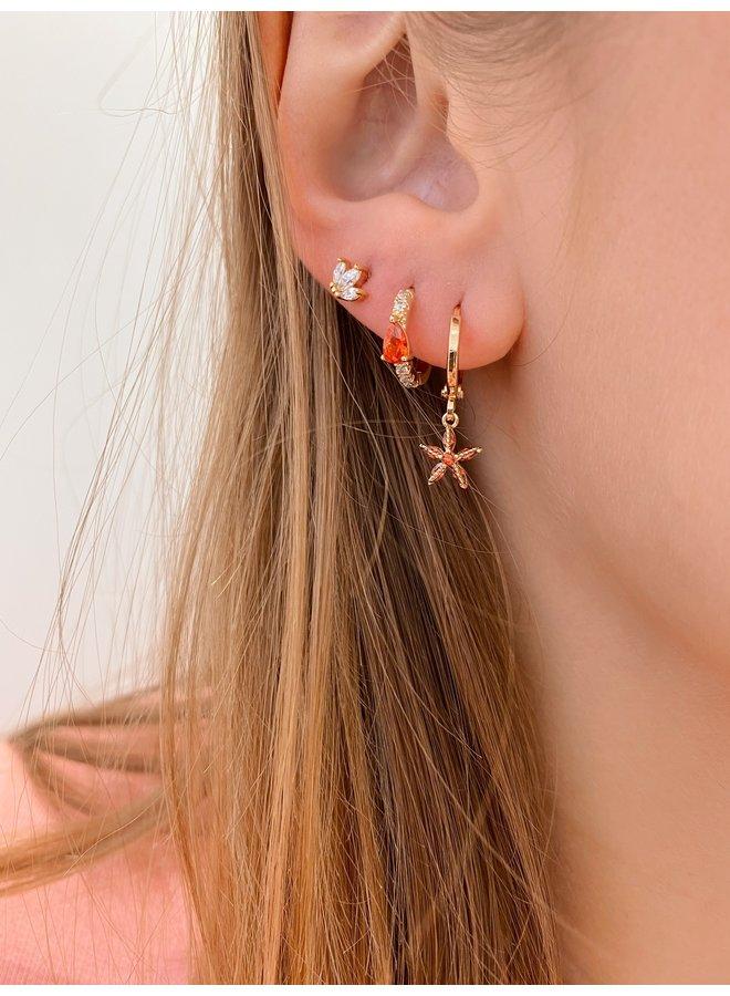 STAR EARRING - RED