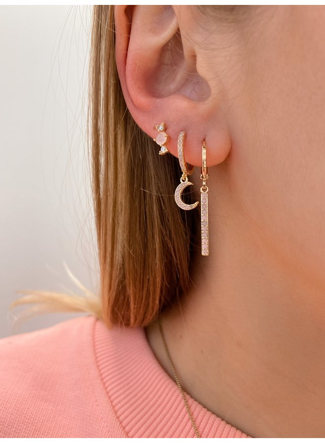 HERA PLATED EARRING - LIGHT PINK