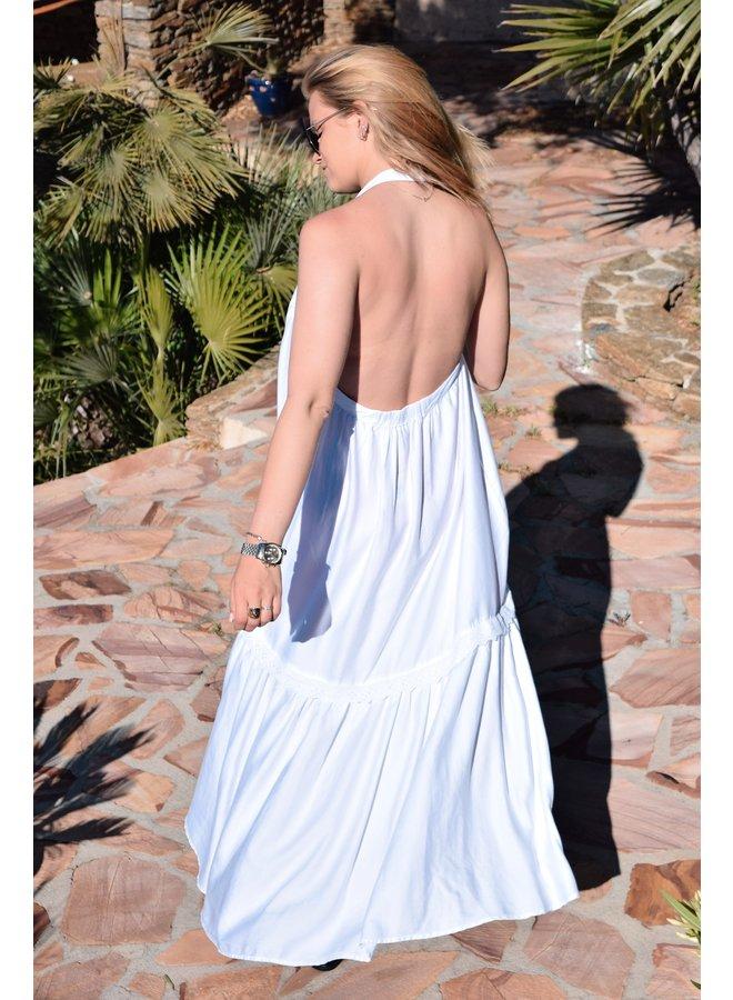 NURIA LONG DRESS - WHITE