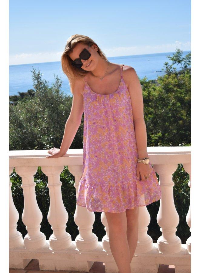 ROSIE DRESS PURPLE FLOWER