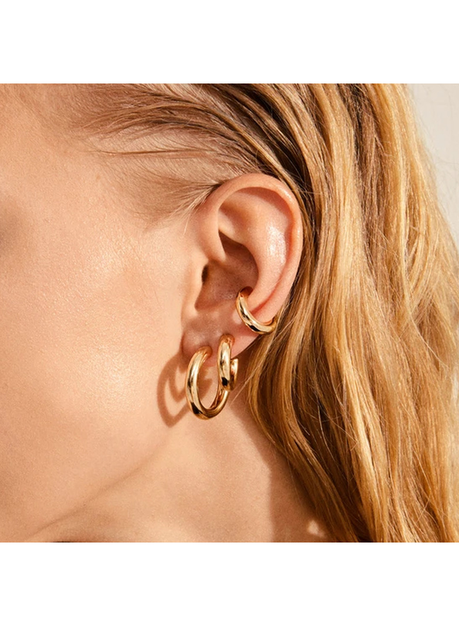 RECONNECT CHUNKY HOOPS AND EAR CUFFS 3-IN-1