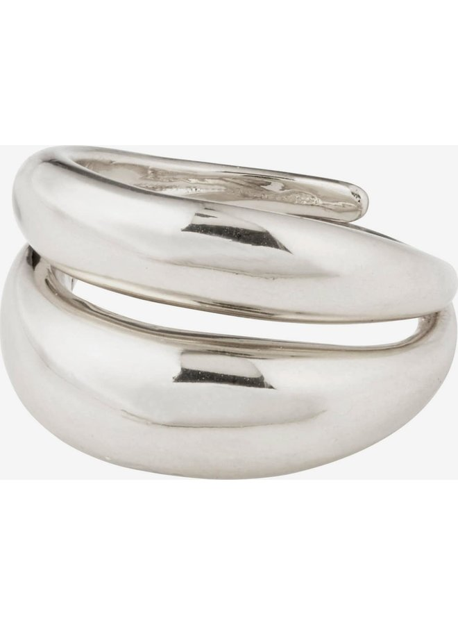 RECONNECT CHUNKY STATEMENT RING SILVER