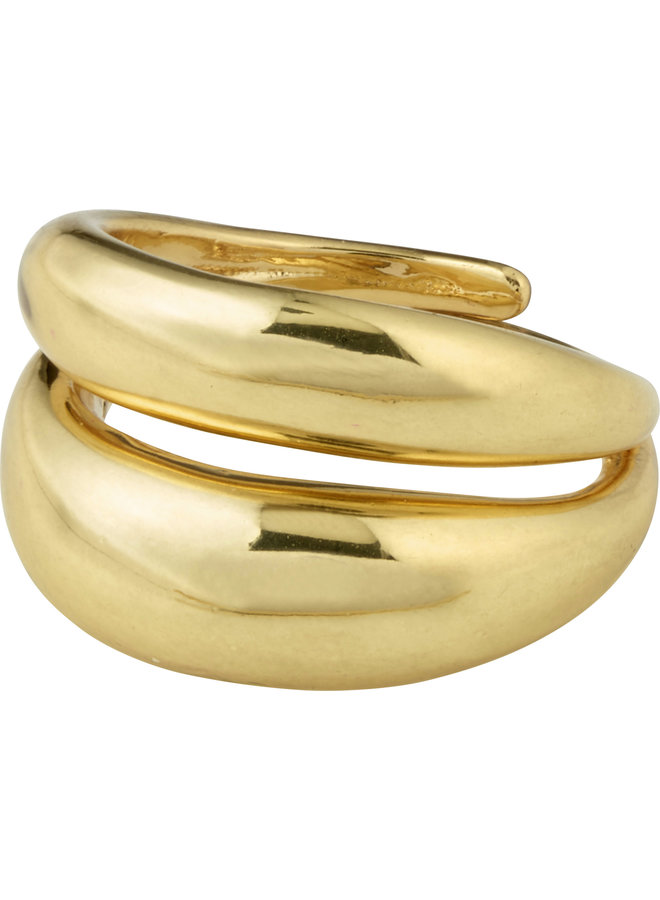 RECONNECT CHUNKY STATEMENT RING GOLD PLATED