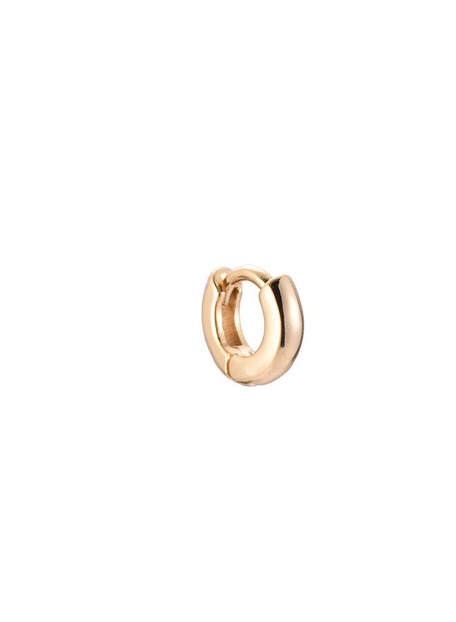 CLASSIC MINI HOOP - GOLD 6mm