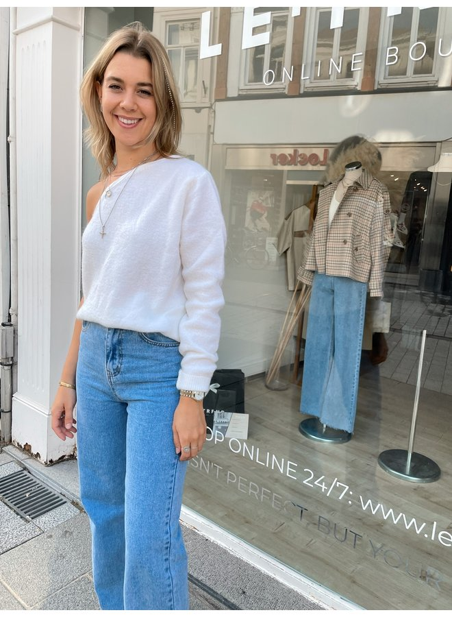 LE TREND - AXELLE JUMPER OFF WHITE
