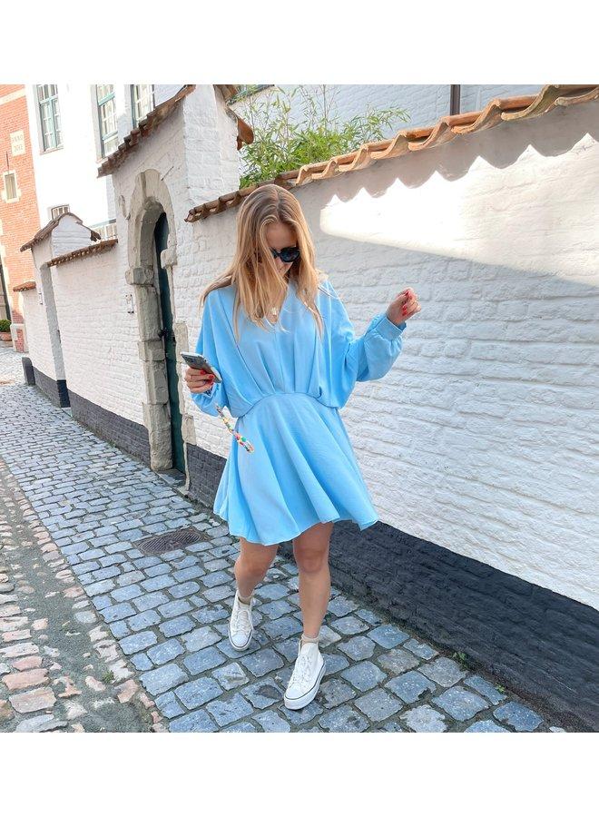 LEYLA DRESS BABY BLUE