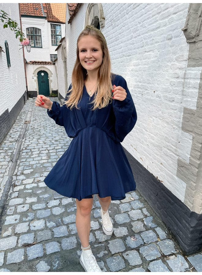 LEYLA DRESS DARK BLUE