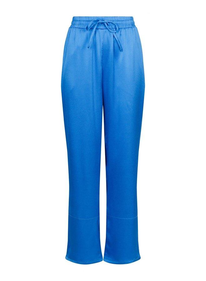 KULI CREPE SATIN PANTS BLUE
