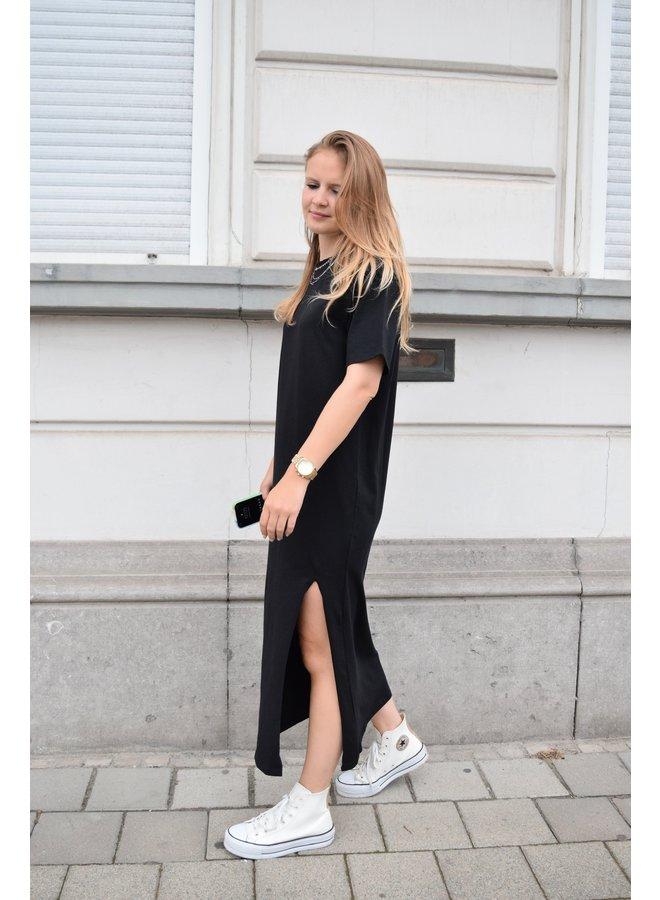 FRONT SLIT T-SHIRT DRESS