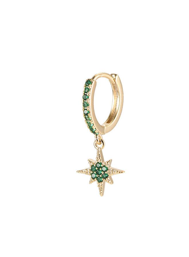 NORTHERN STAR EARRING - GREEN