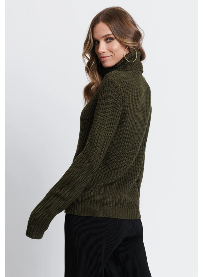 TINELLE ROLLNECK KNIT - ARMY GREEN