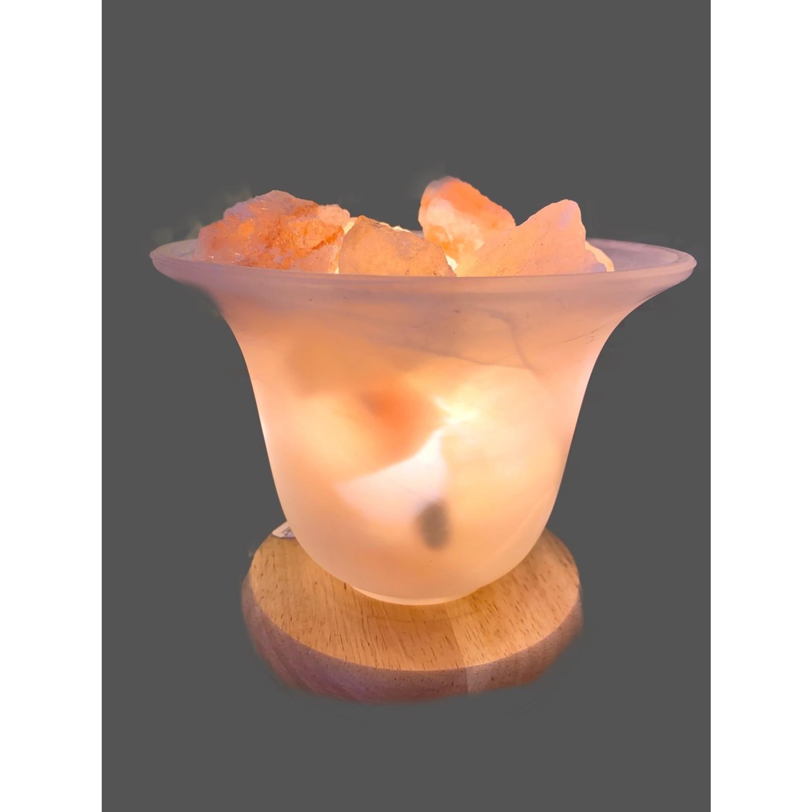 Lámpara con cristales de sal