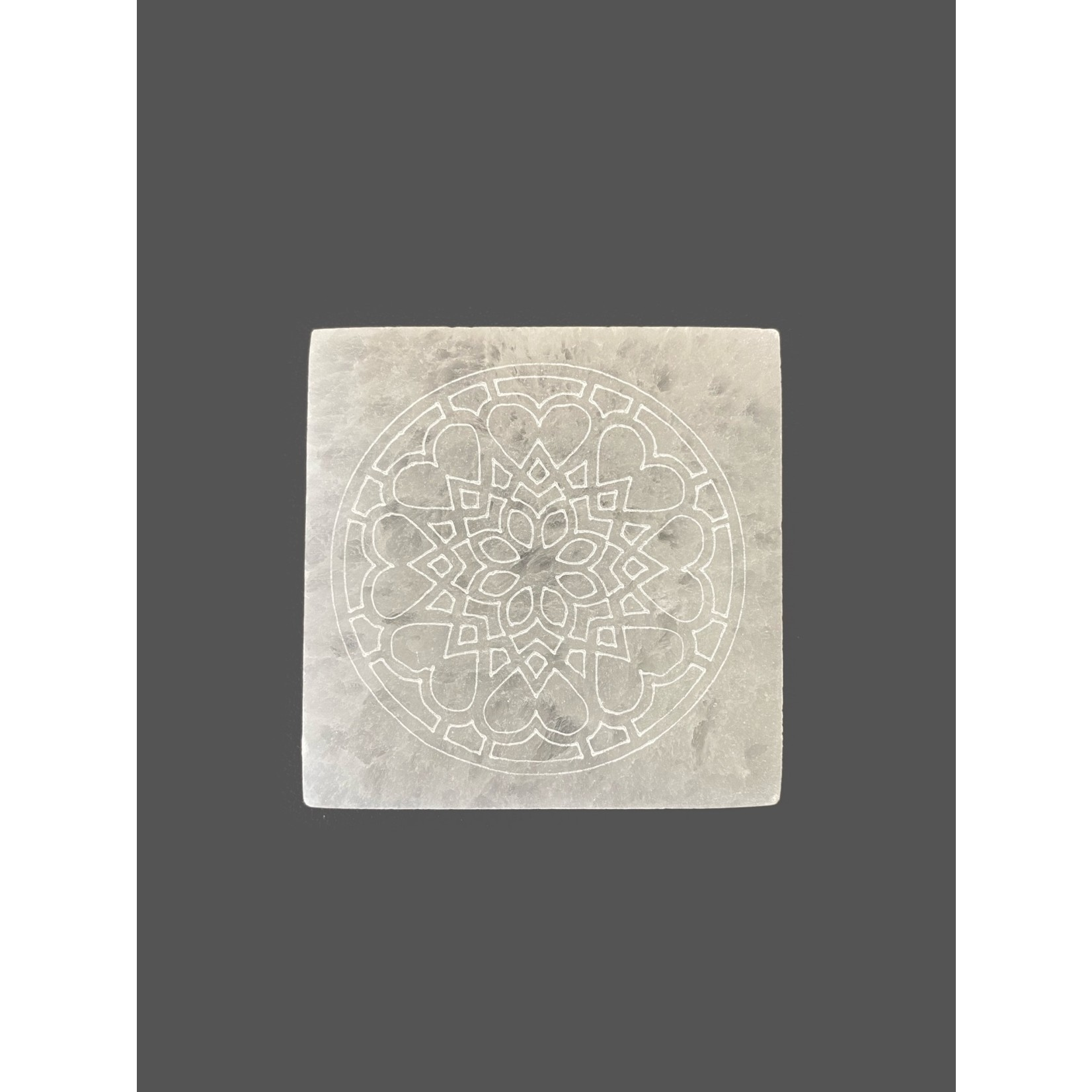 Placa de selenita grabada 7 cm