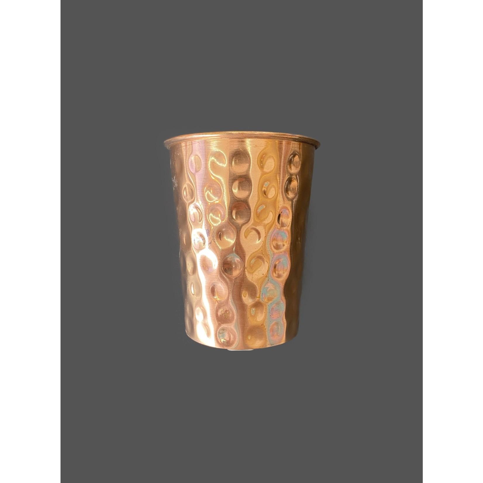 Vaso de cobre martillado 250 ml