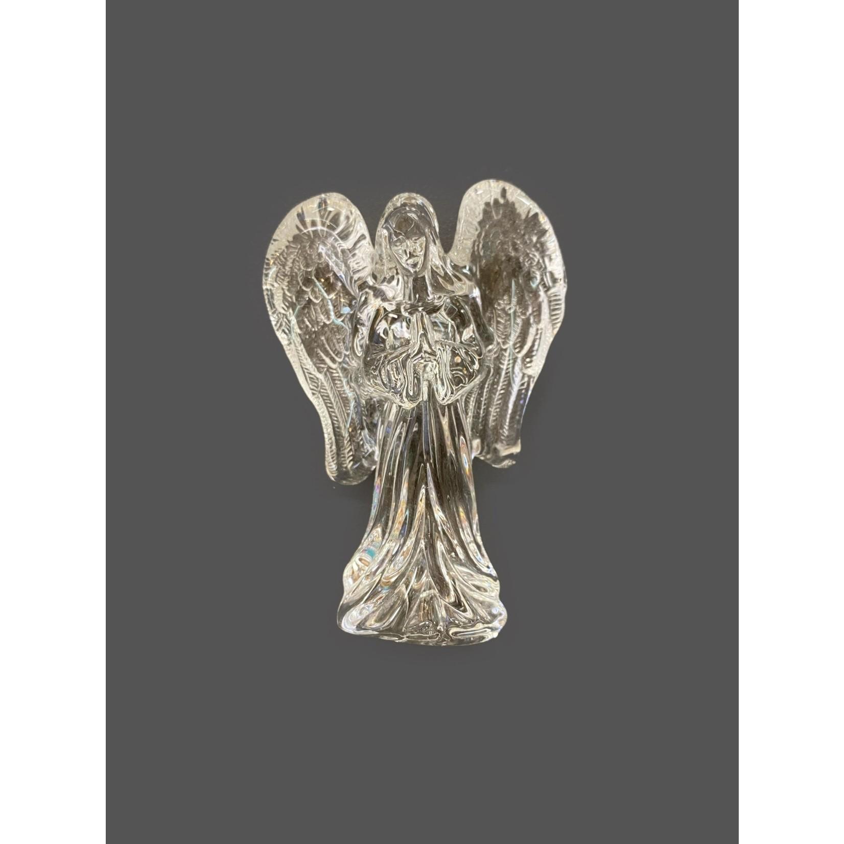 Hermoso ángel de cristal con alas