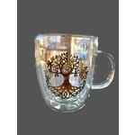 Vaso de té de doble pared Árbol de la vida 400 ml