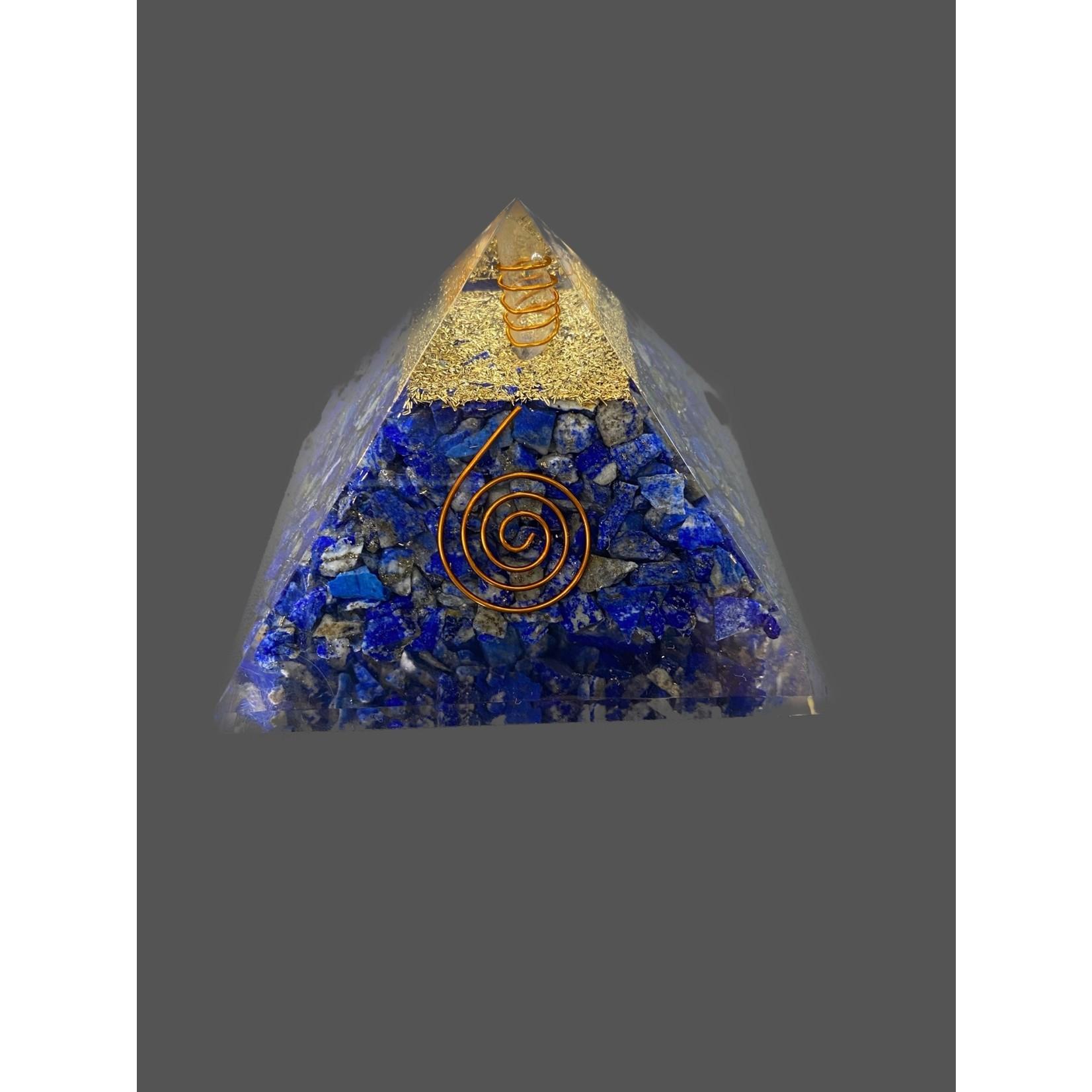 Piramide orgonite 9x9 lapislazuli