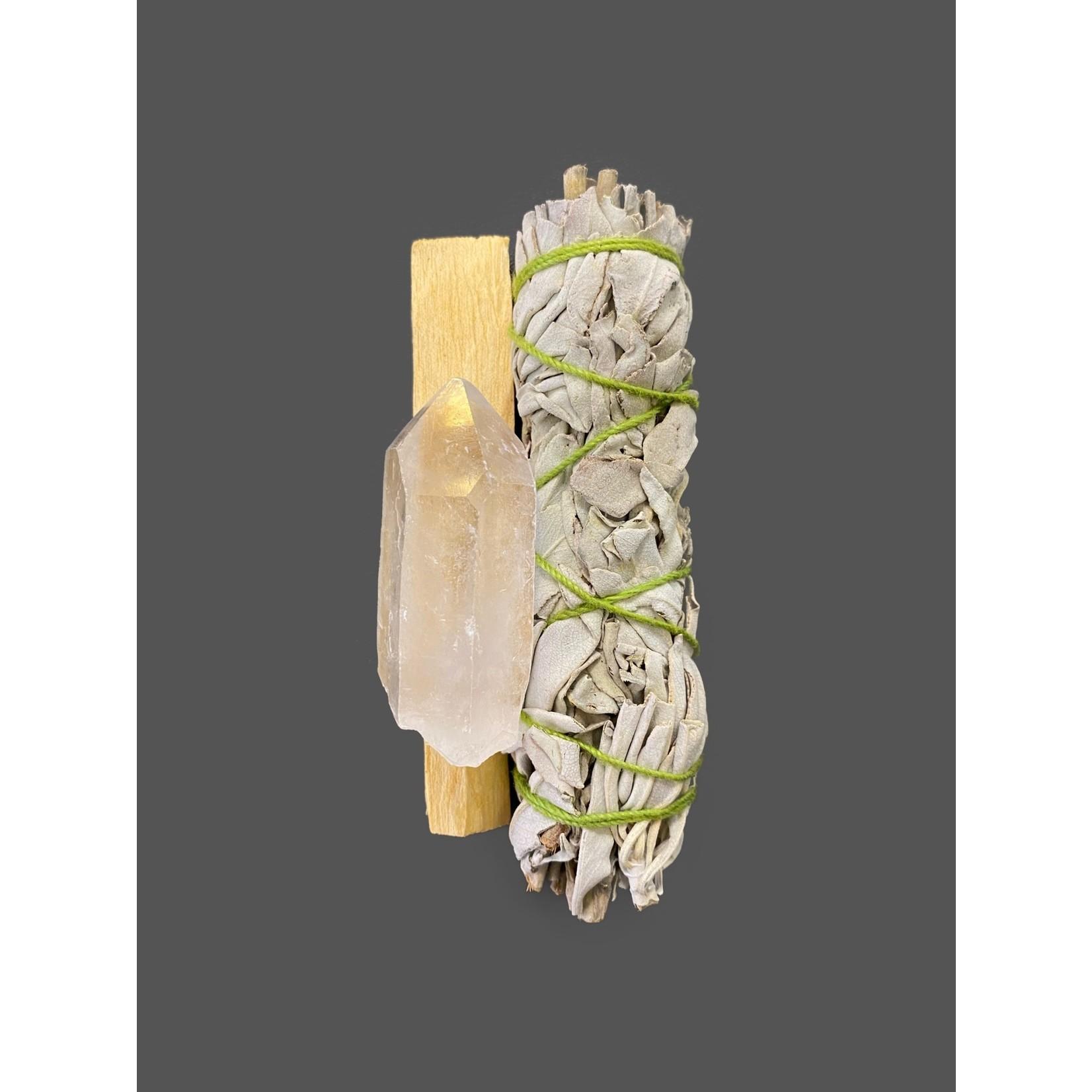 Kit limpieza palo santo-salvia-cuarzo