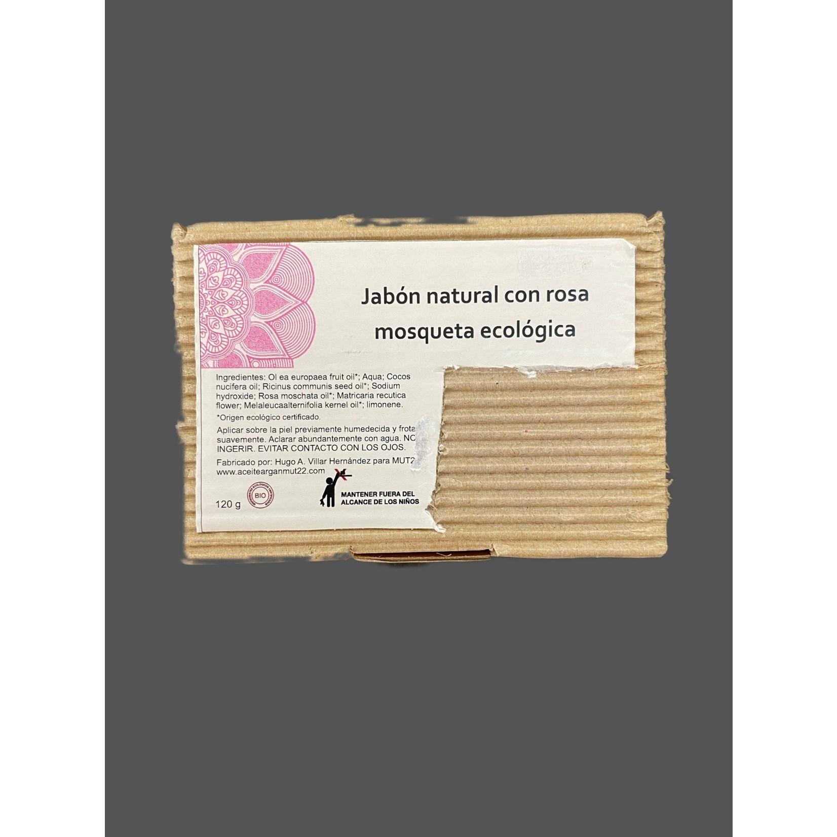 Jabón natural con rosa mosqueta ecológico