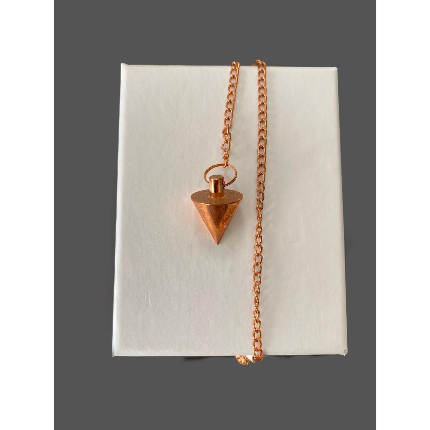 Pendulo cónico metálico peq. cobre