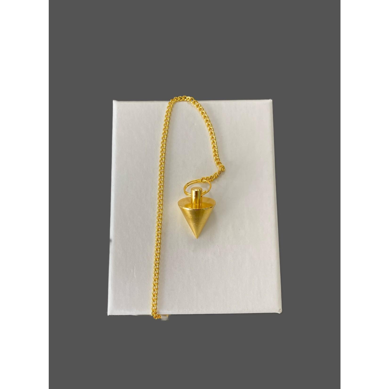 Pendulo cónico metálico peq. bronce