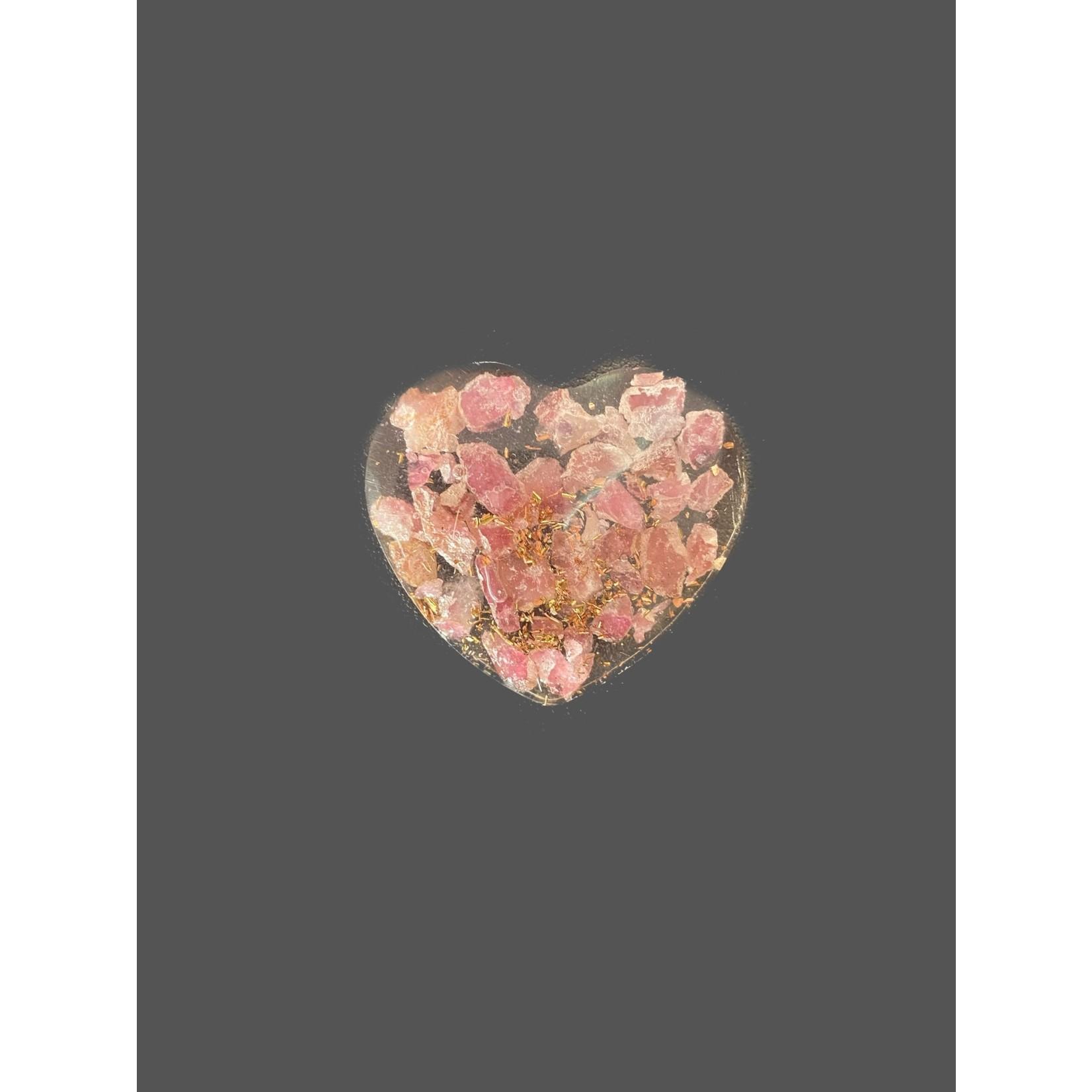 Corazon orgonita Turmalina rosa