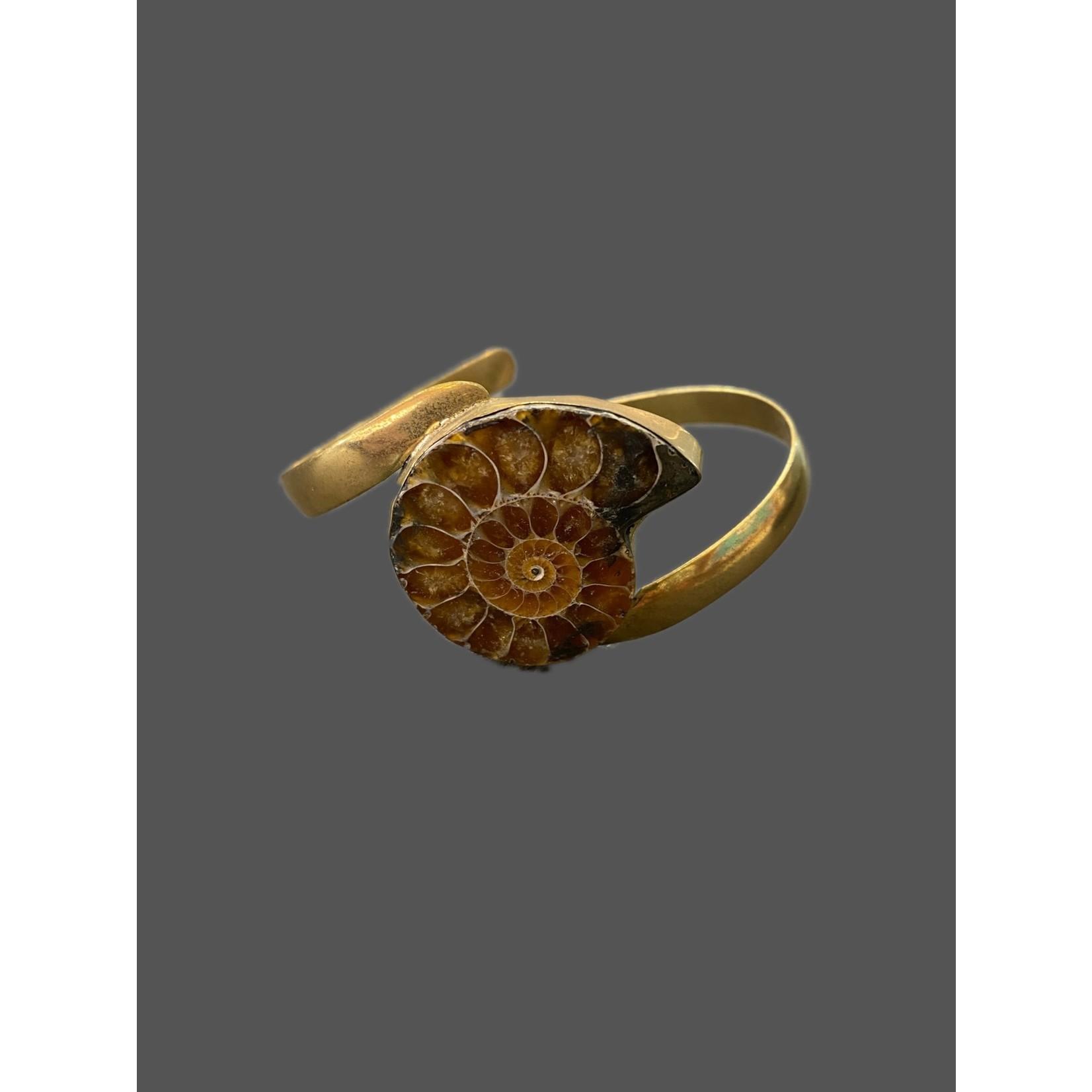 Pulsera ammonite bronce