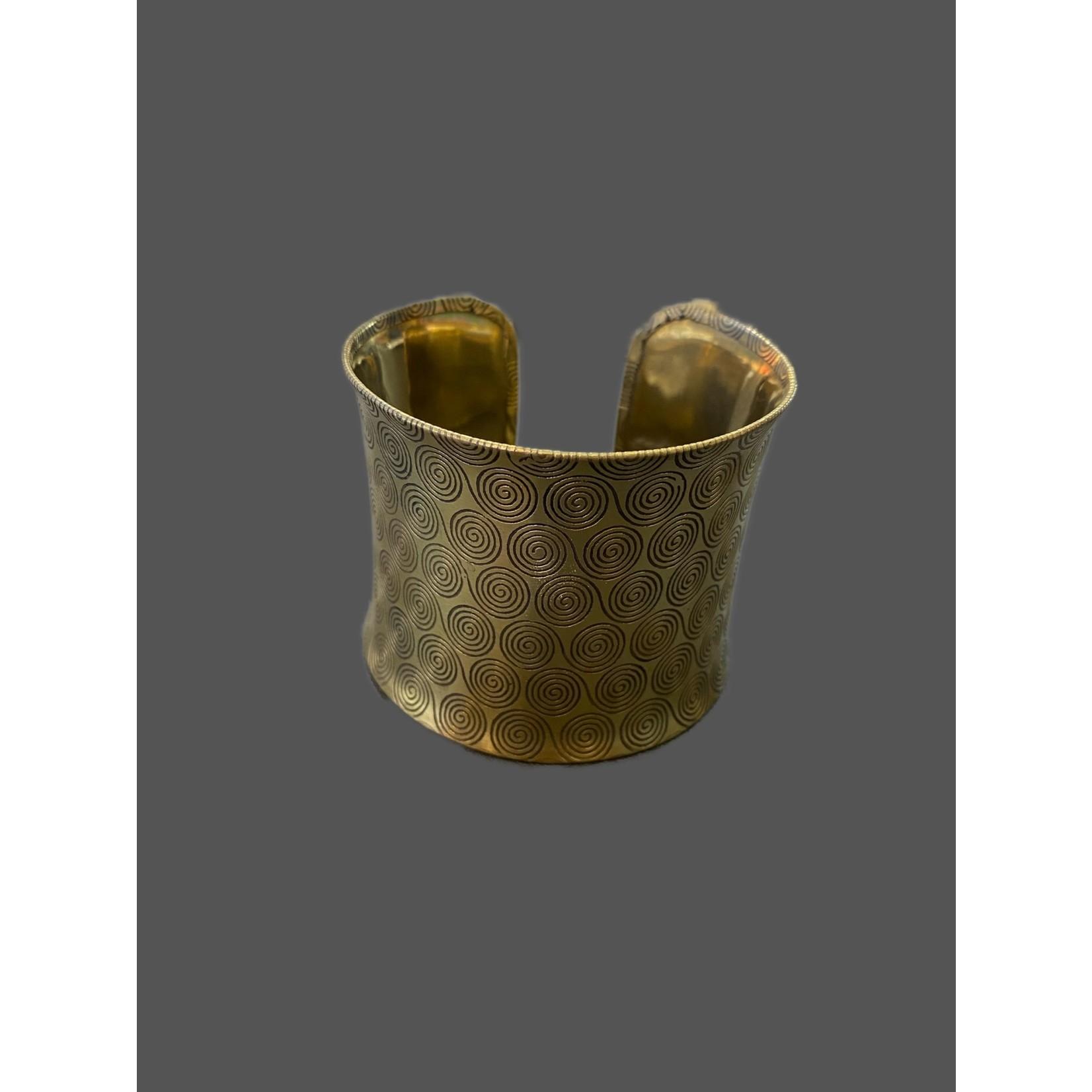 Brazalete Bronce Grueso espiral