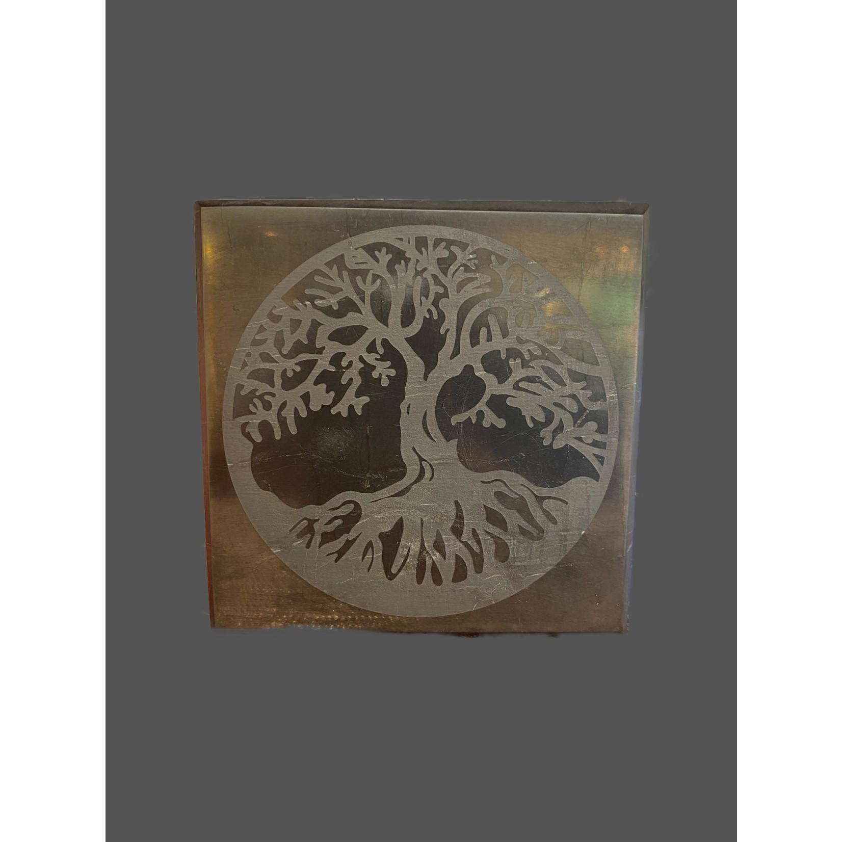 Placa de Shungit Pulida Árbol de la Vida