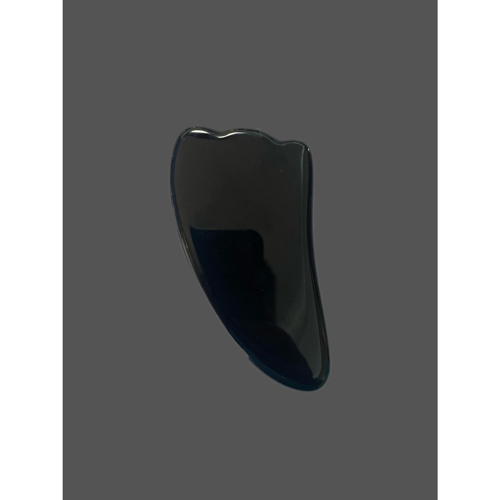Masajeador Gua Sha de obsidiana