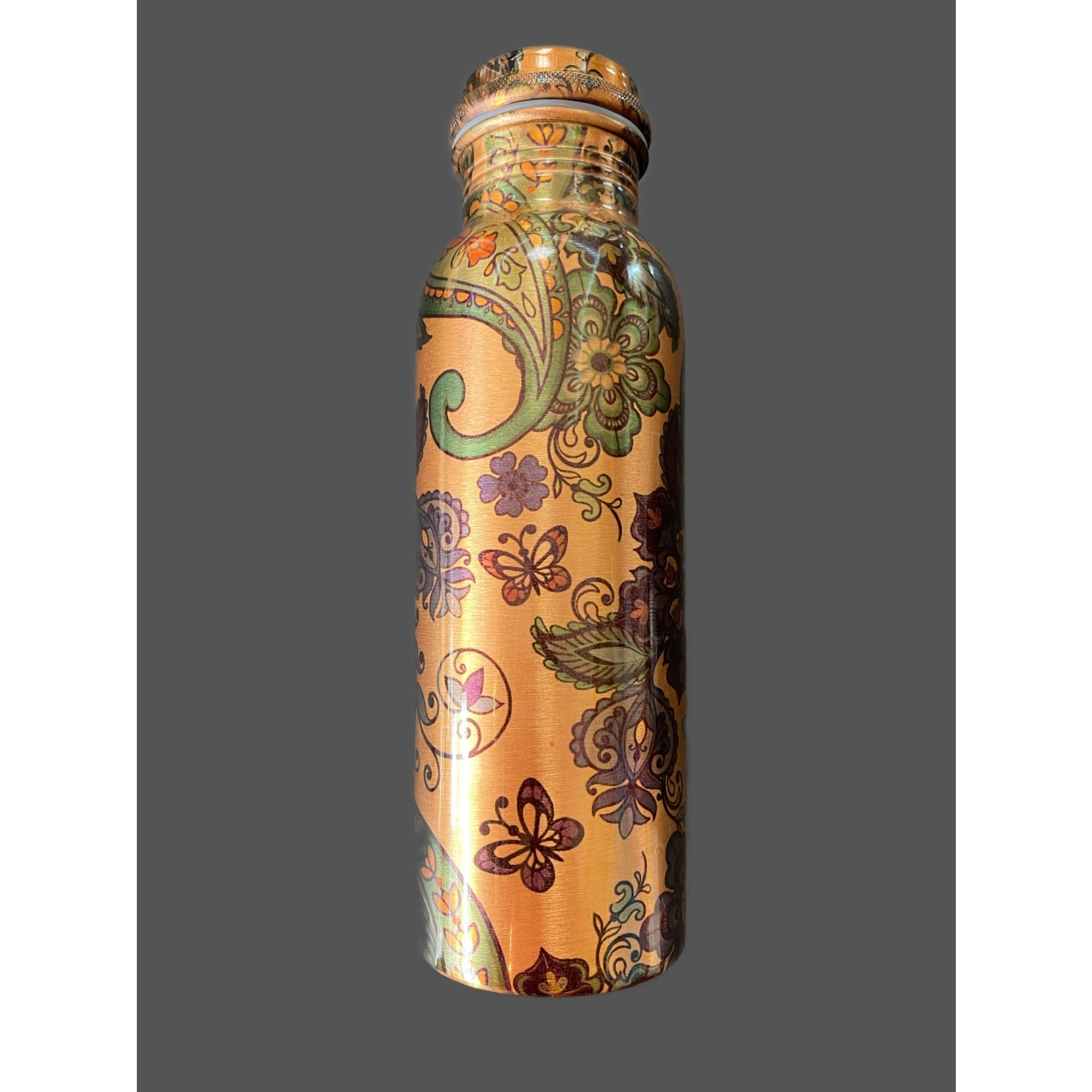 Botella de cobre diseño de cachemira imprimido 750 ml
