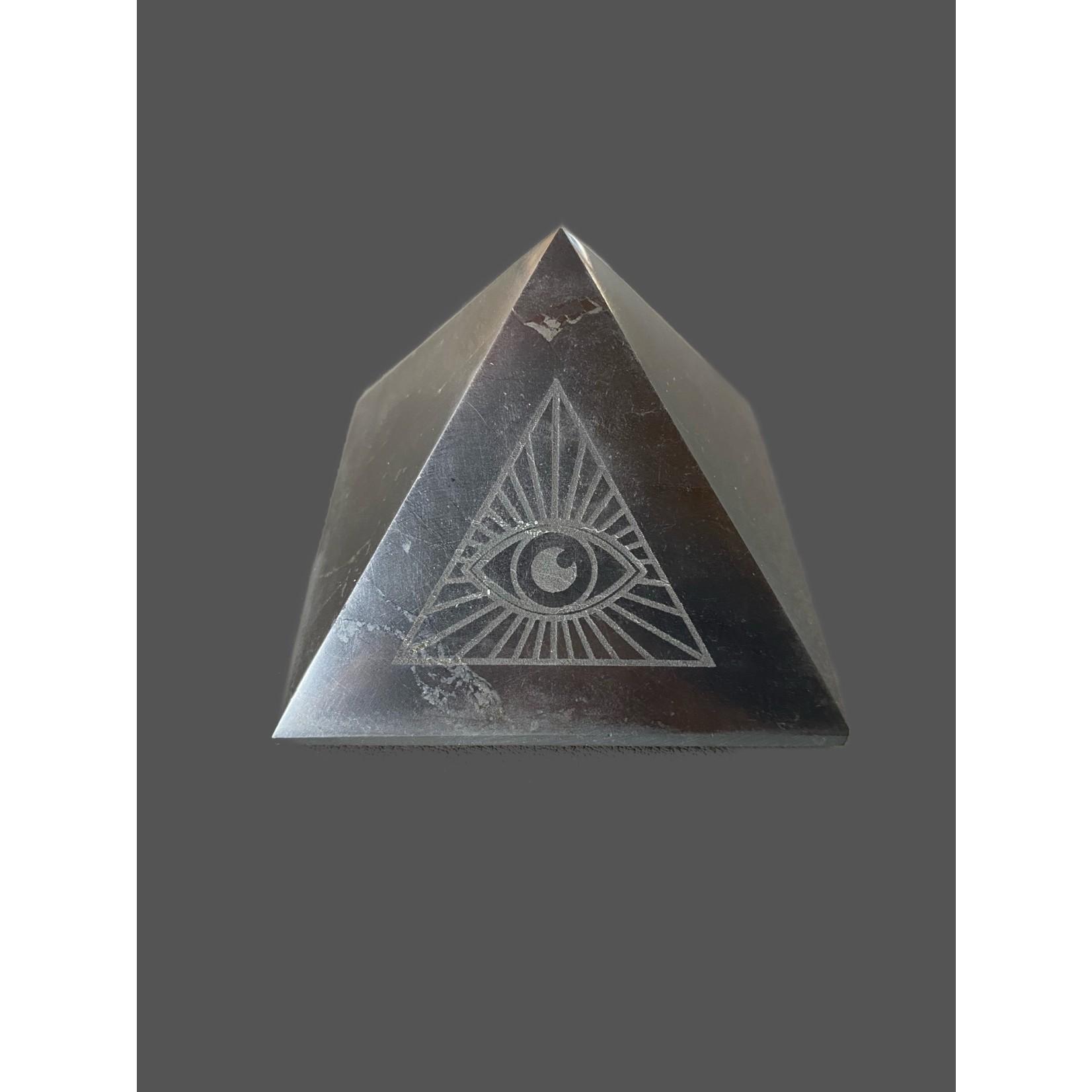 Pirámide Shungit Ojo Dios 7cm