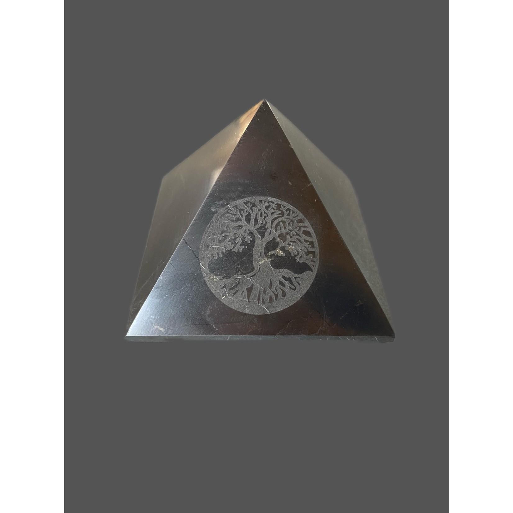 Pirámide Shungit Árbol Vida 7cm