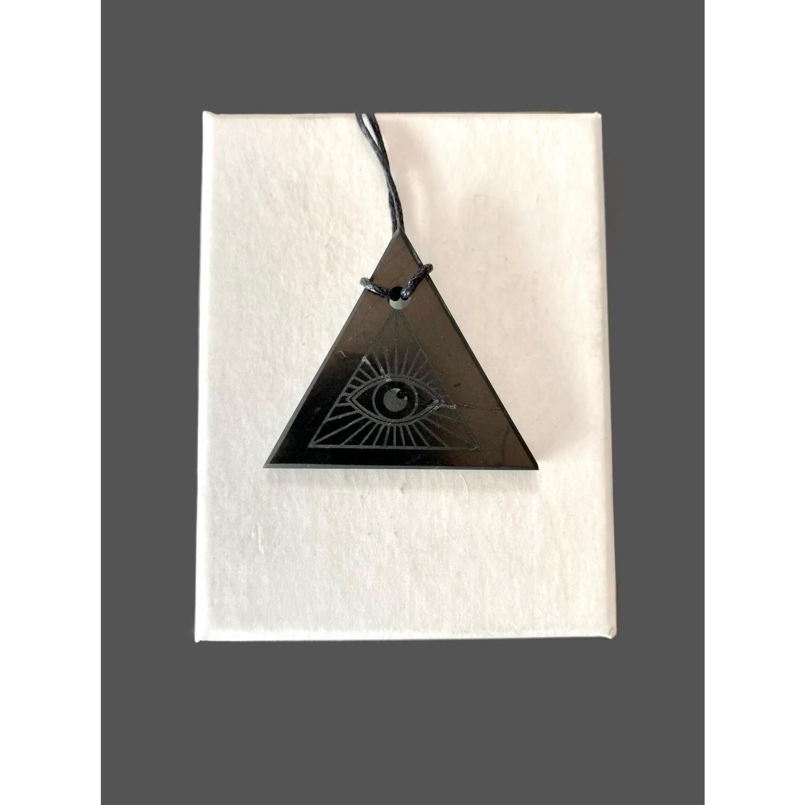 Colgante Shungit triángulo-Ojo Dios