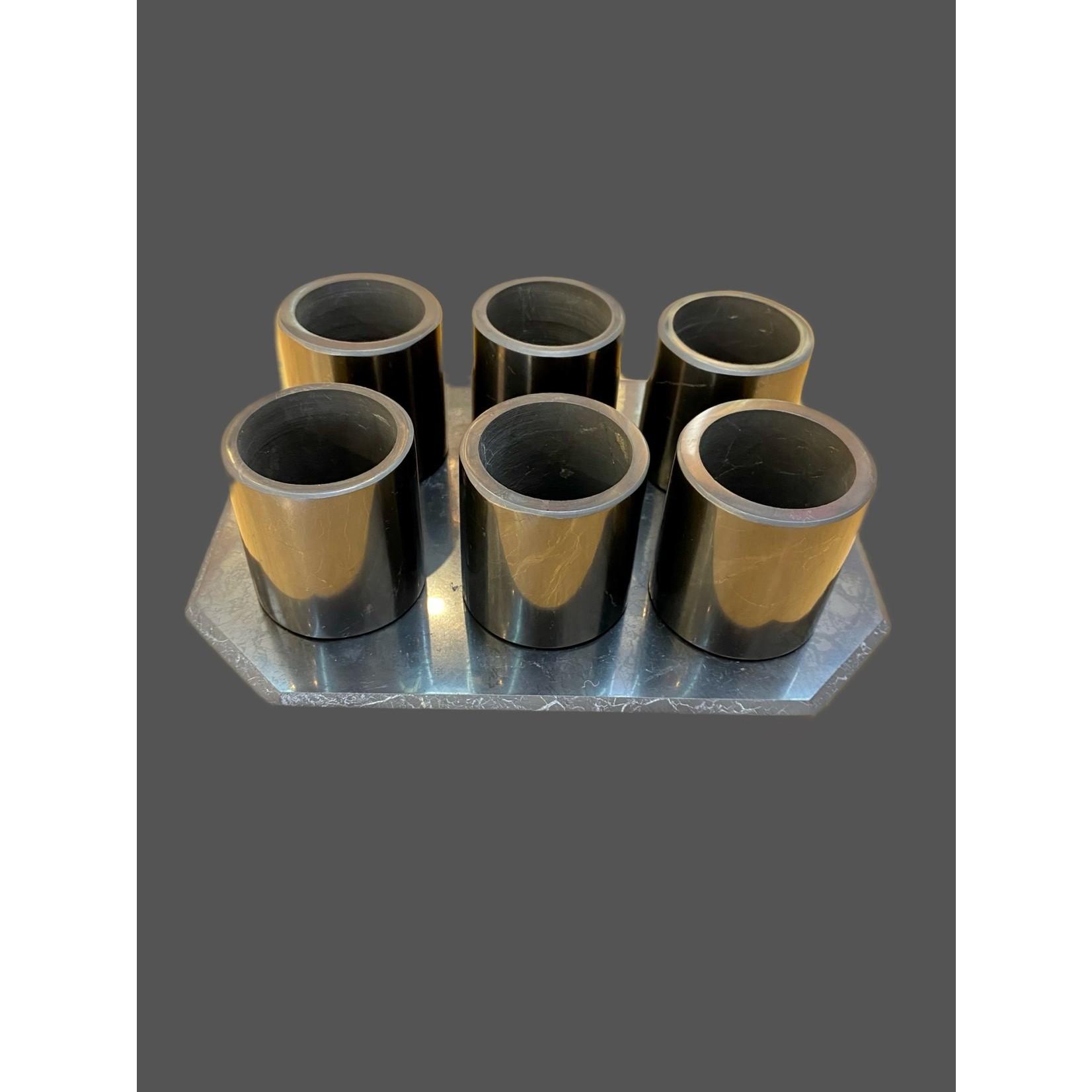 Set 6 vasos con base shungit