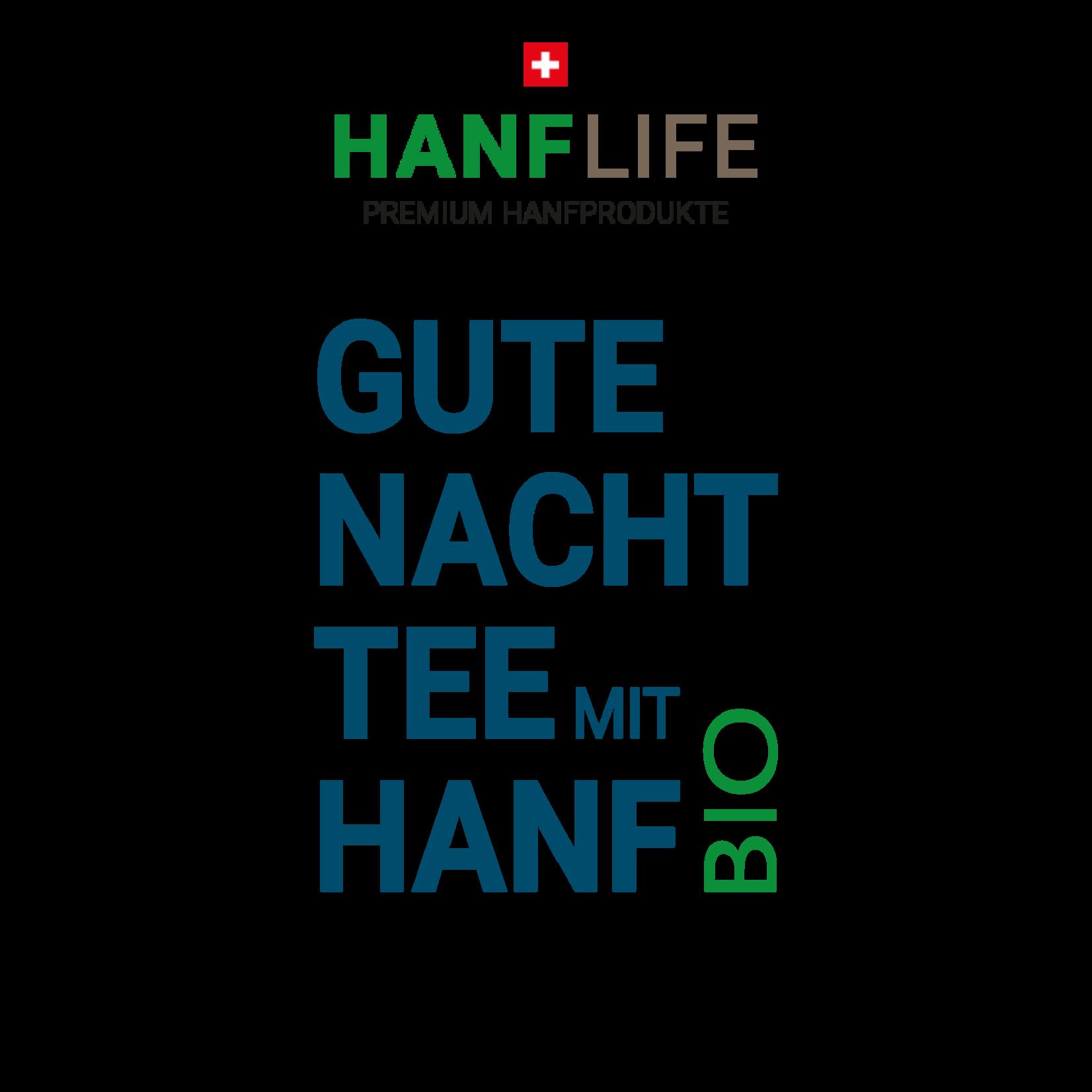 hanflife Bio Gute Nacht Tee mit Hanf