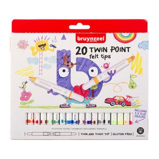 Bruynzeel Bruynzeel Kids Twin Point Viltstiften Set 20