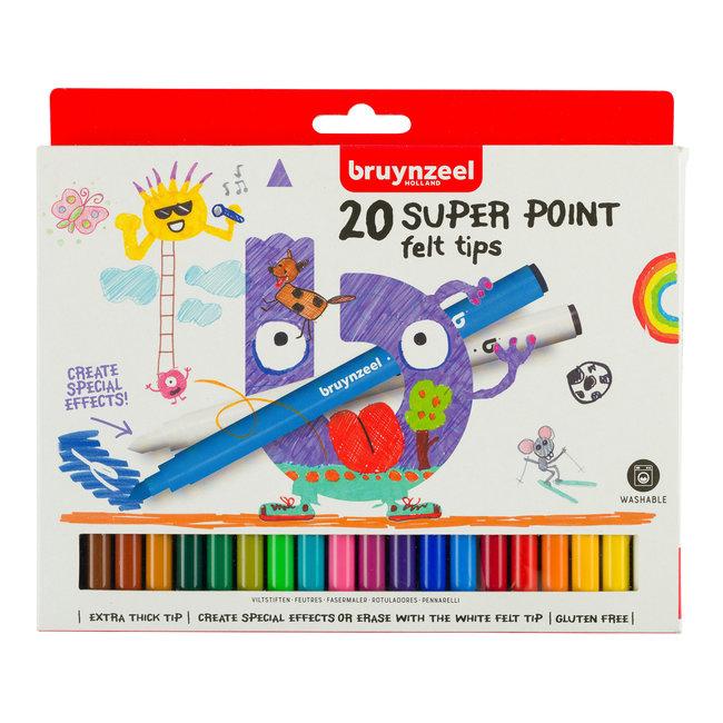 Bruynzeel Kids Super Point Viltstiften Set 20