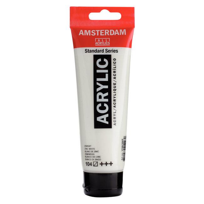 Amsterdam Acrylverf Tube 120 ml Zinkwit 104