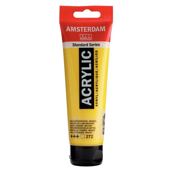 Amsterdam Acrylverf Tube 120 ml Transparantgeel Middel 272