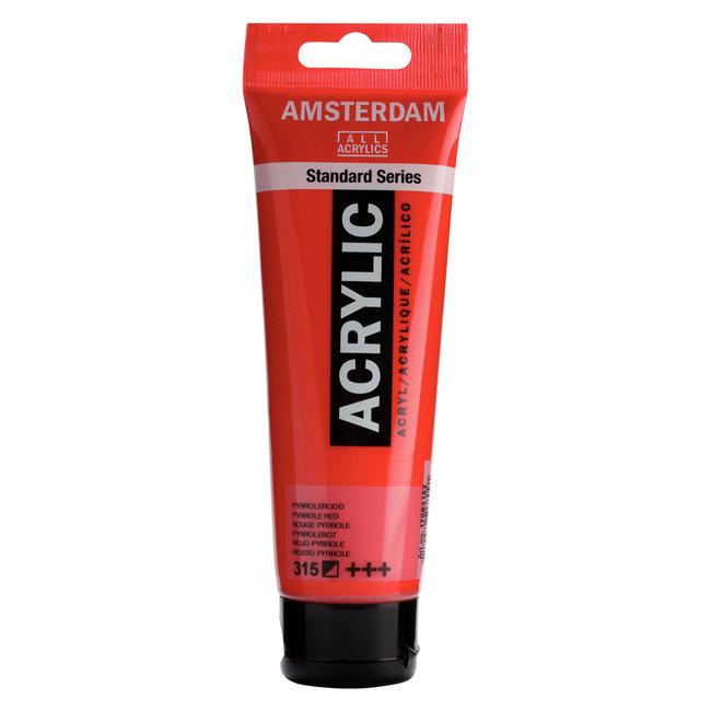 Amsterdam Acrylverf Tube 120 ml Pyrrolerood 315