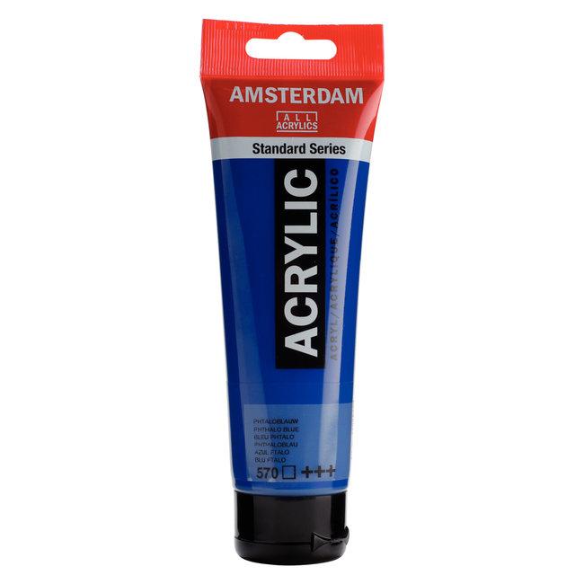 Amsterdam Acrylverf Tube 120 ml Phtaloblauw 570