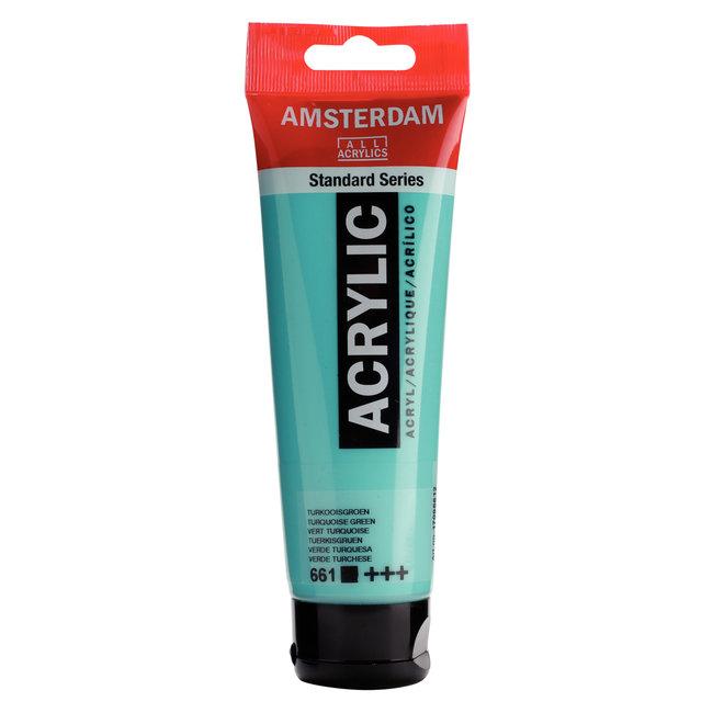 Amsterdam Acrylverf Tube 120 ml Turkooisgroen 661