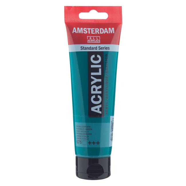 Amsterdam Acrylverf 120 ml Phtalogroen 675