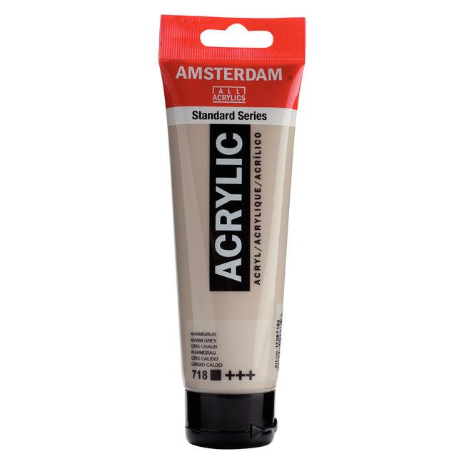 Amsterdam Acrylverf Tube 120 ml Warmgrijs 718