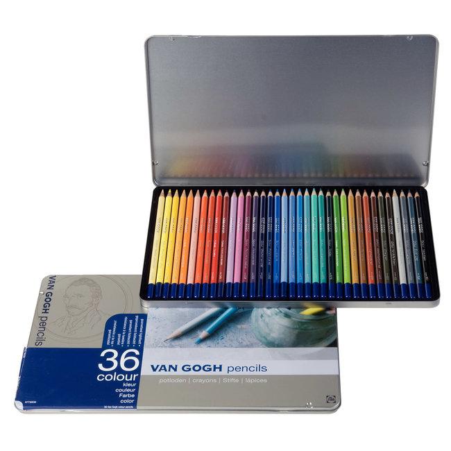 Van Gogh Uitgebreide set kleurpotloden met 36 kleuren